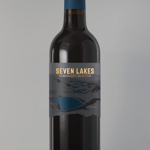 Seven Lakes Label Design