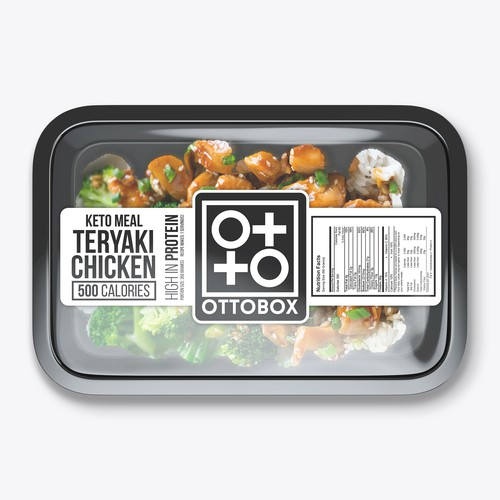 Keto meal box label design