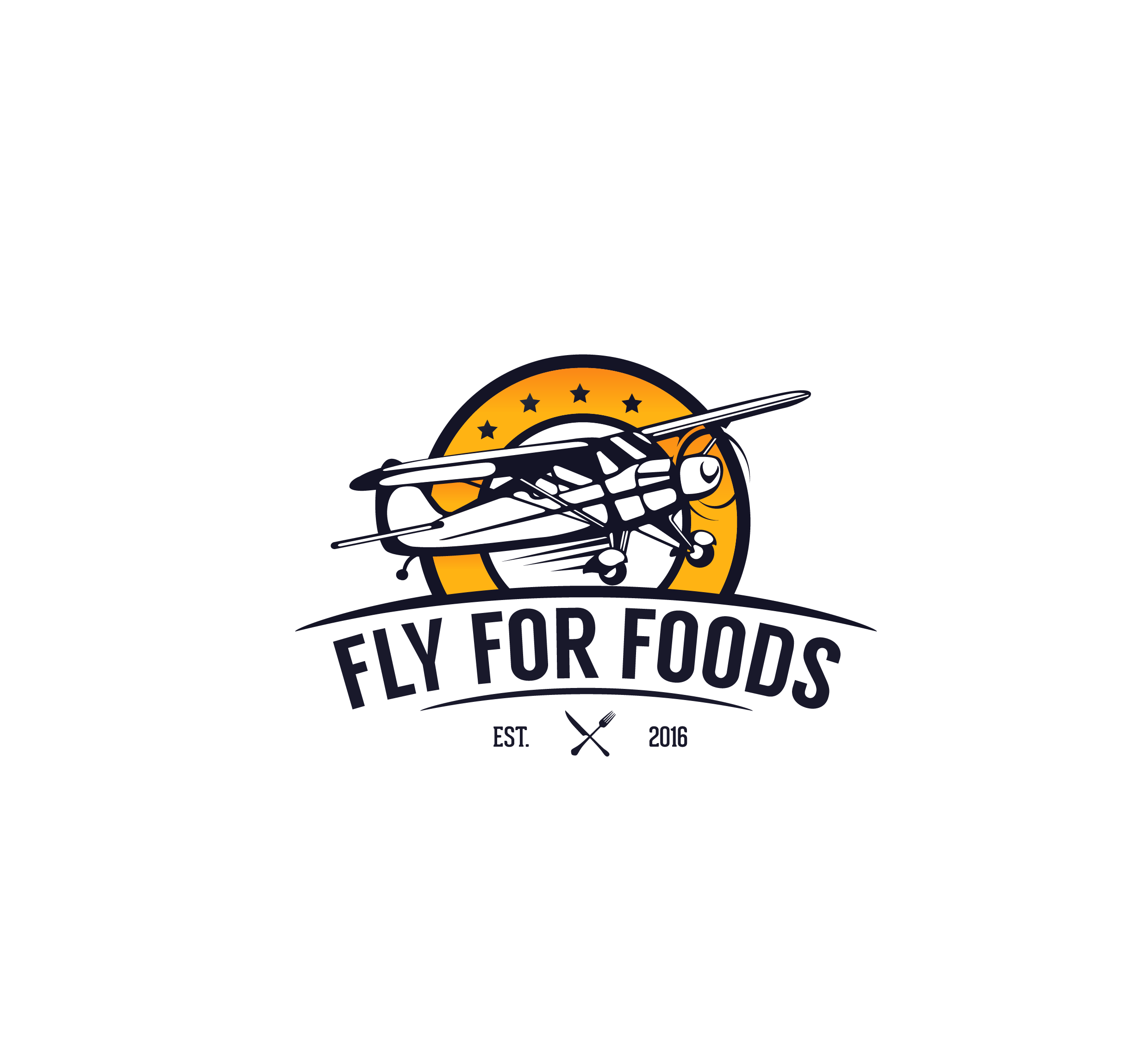 Eye-catching unique logo for an airline pilot foodie