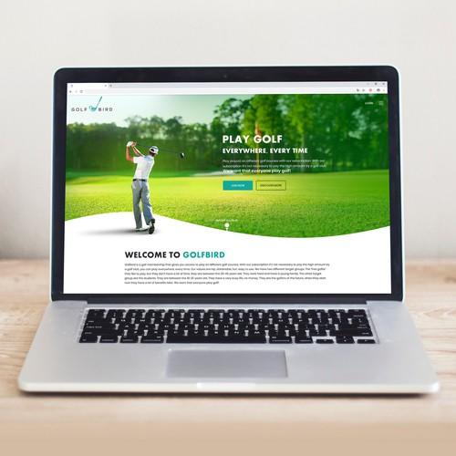 Webpage concept on Golf Playground