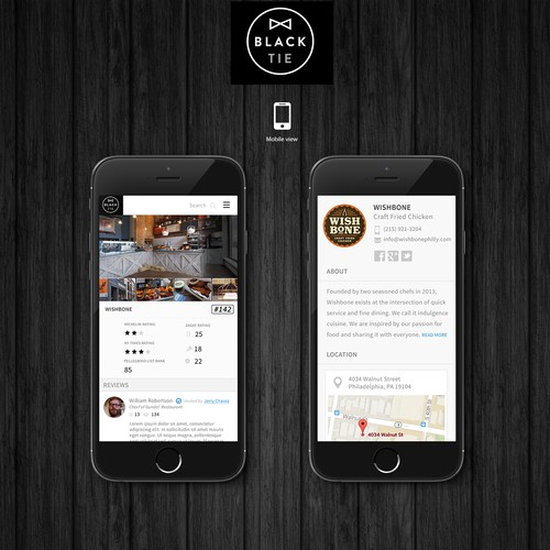 Create the review page for a private community of chefs and food writers