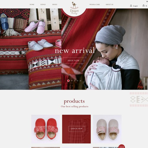 Homepage needed for Middle Eastern baby brand