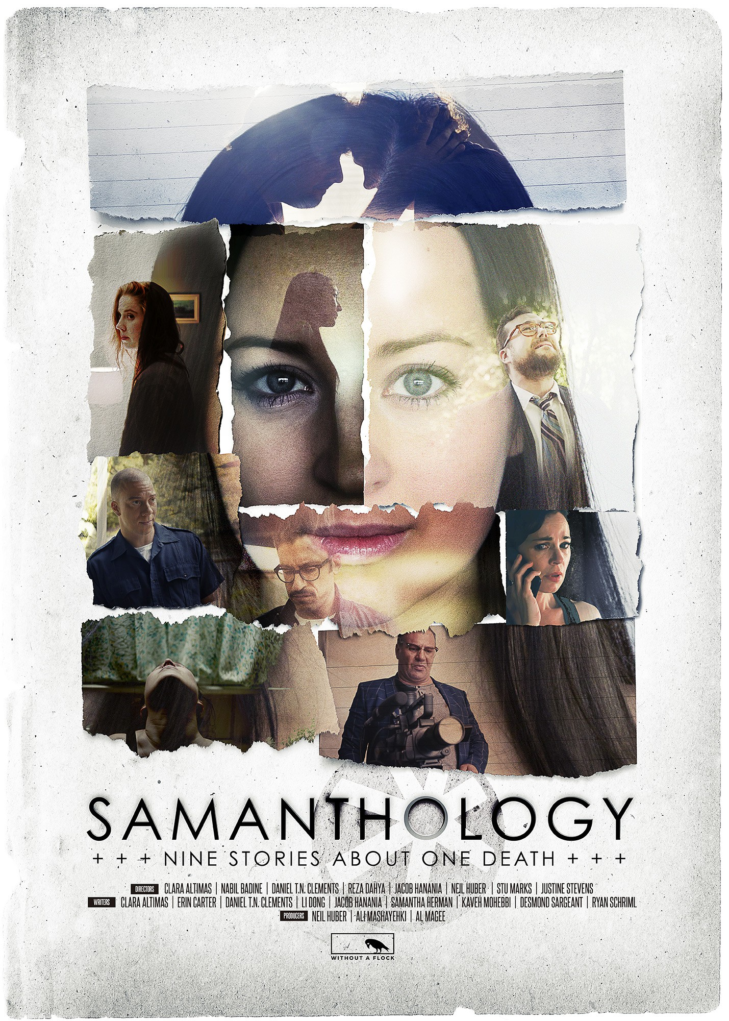 "Design a unique and captivating movie poster for ""Samanthology"""