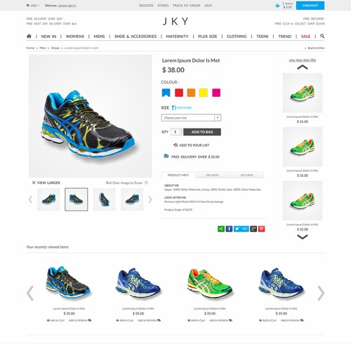 Create a modern website design for JKY