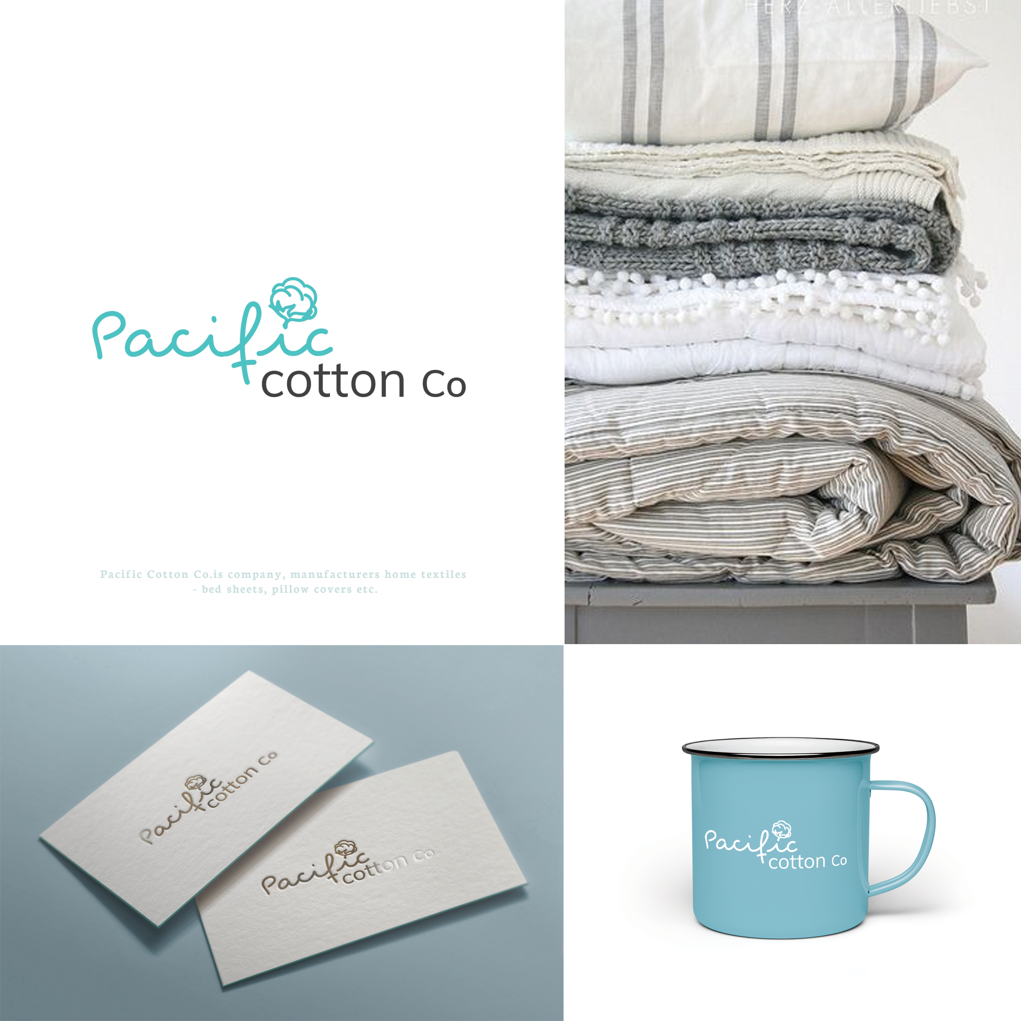 Pacific Cotton Logo and business card