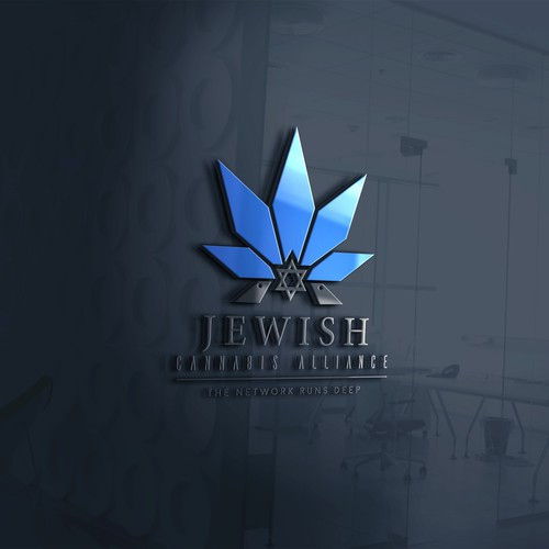 Modern logo for a Jewish Cannabis distributor.