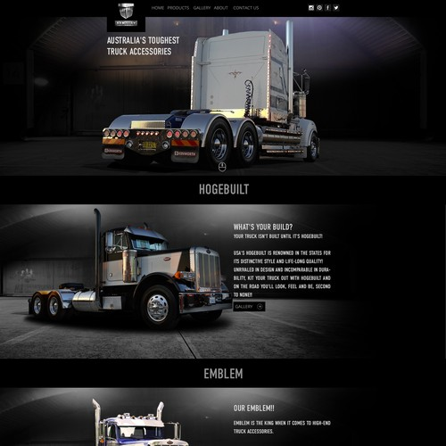 Redesign premium custom truck parts website