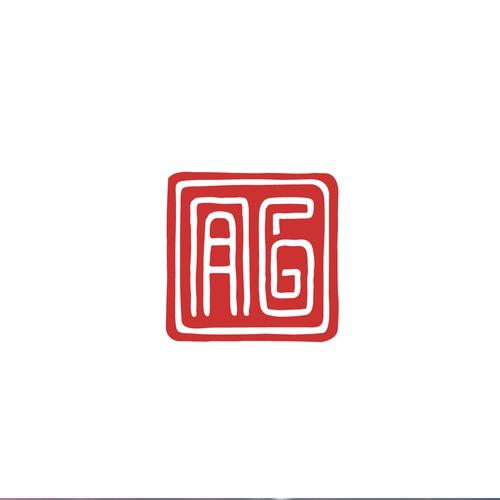 Logo with an initials for an artist