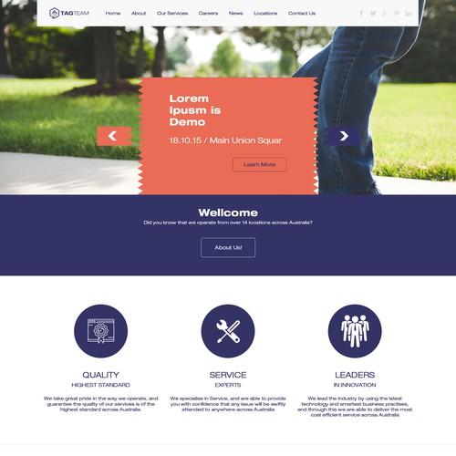 PSD web template design