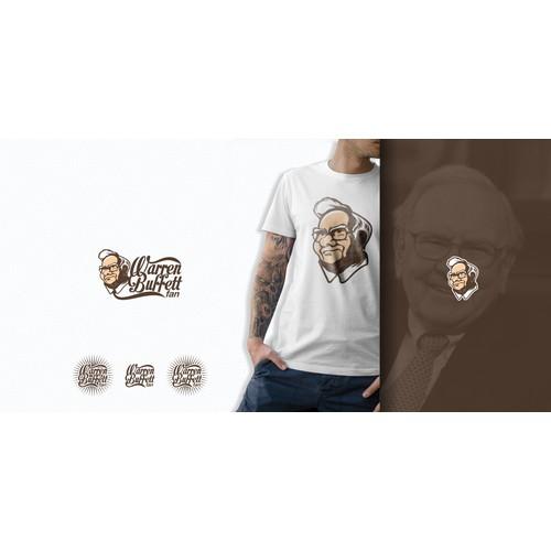 Create a logo that includes a drawing of Warren Buffett!