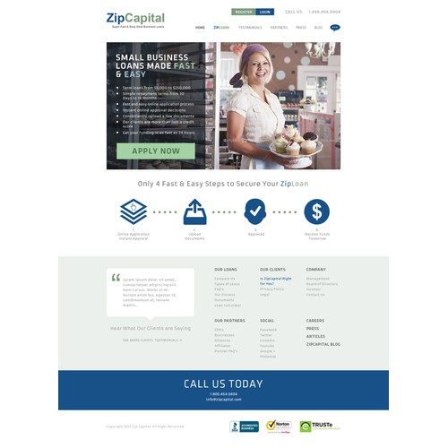 ZipCapital needs a new website design