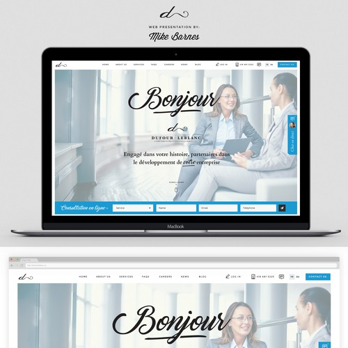 Chic, classy design for Accountant Firm