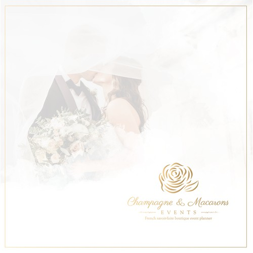 Luxurious Logo for Champagne & Macarons Events.