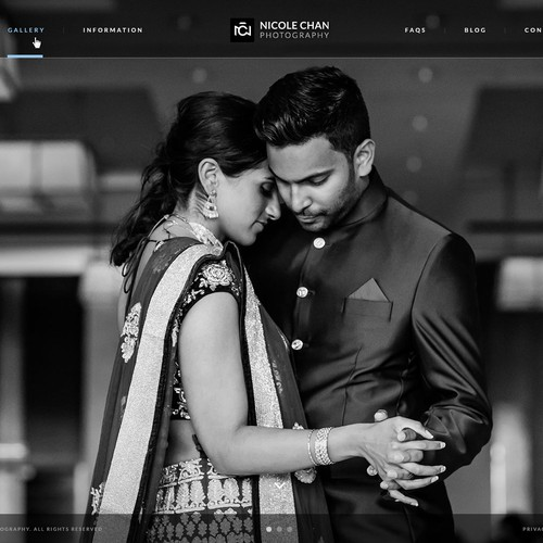 A Website Design Concept for a Wedding Photographer