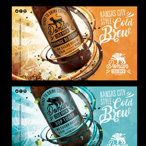 Product merchandiser design for Domain Cold Brew