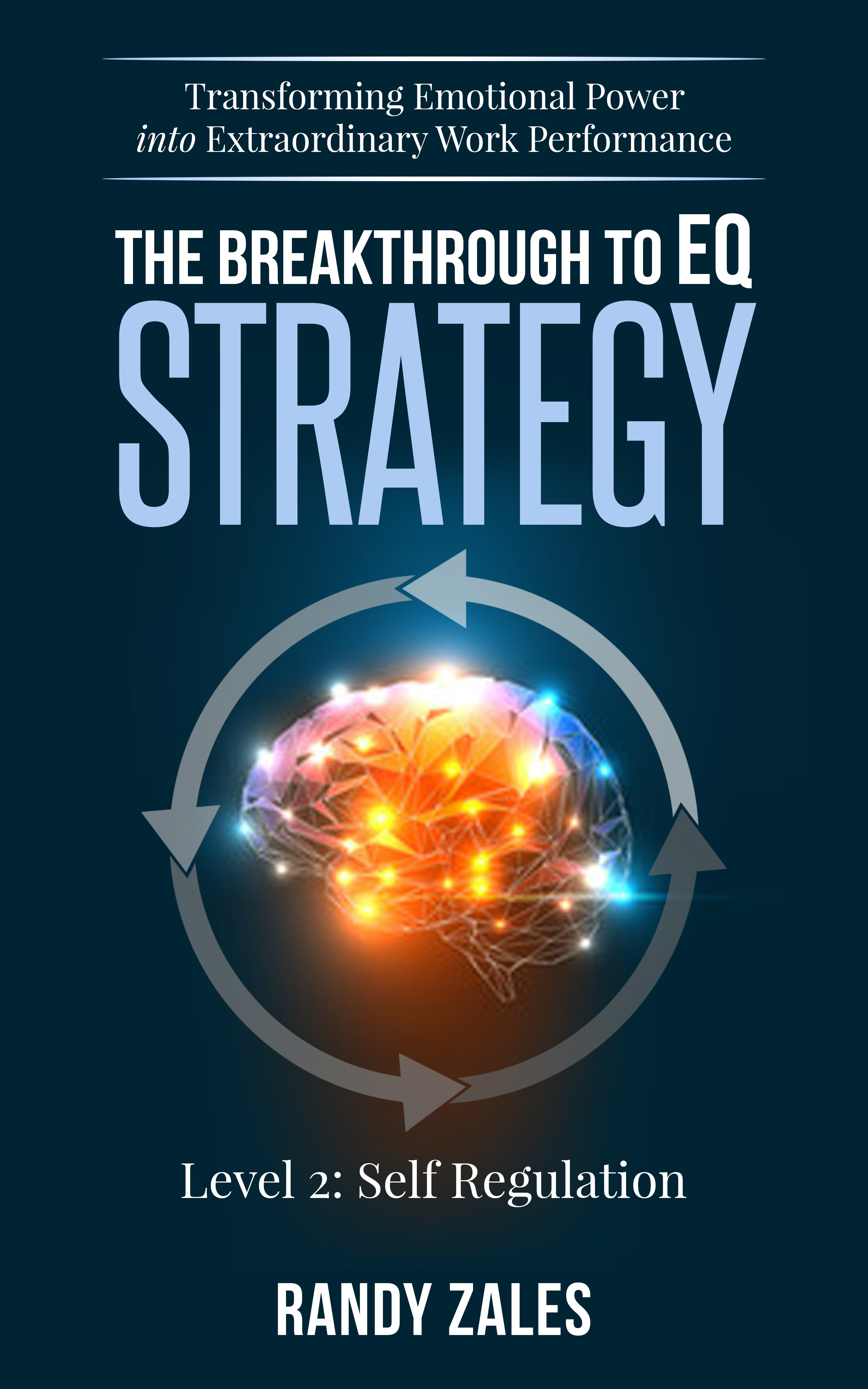 Create a captivating cover for Breakthrough to EQ Strategy Book