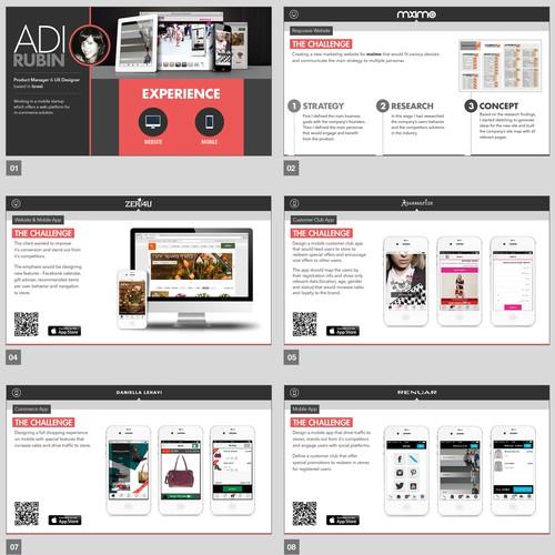 Create a winning UX portfolio design