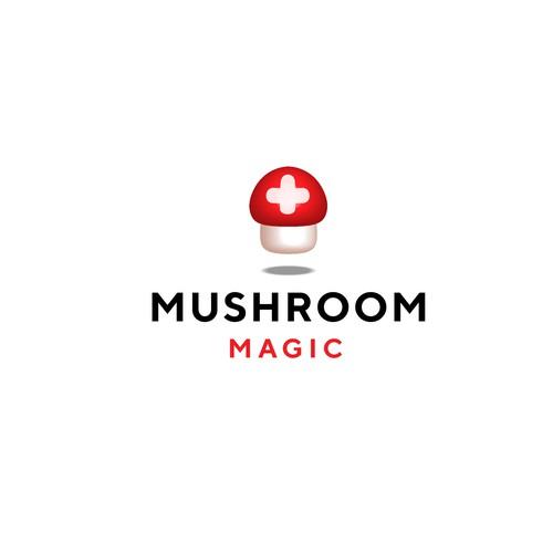 Logo for a mushroom supplement