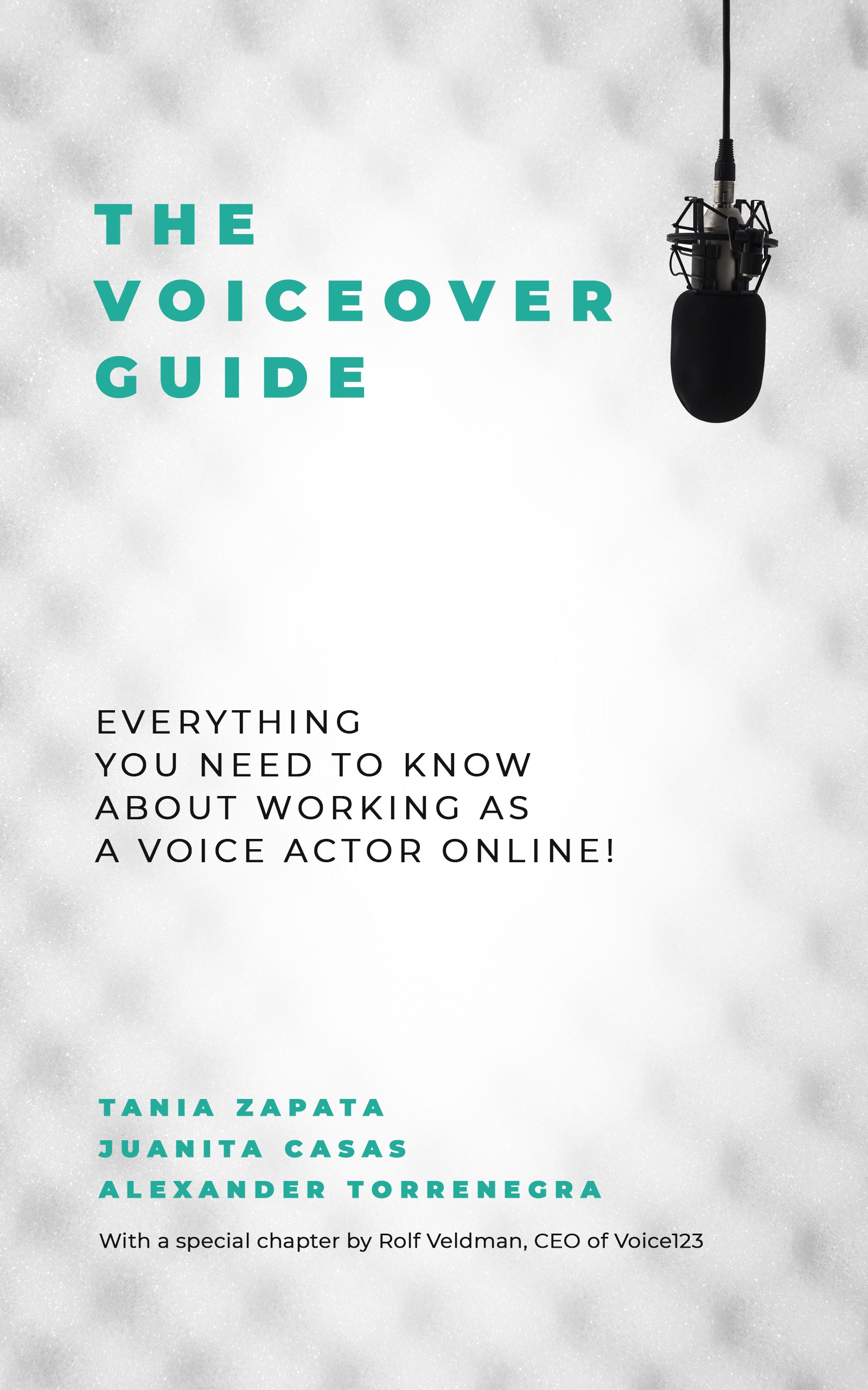 Create an e-book cover for the definitive guide to the online voiceover industry!