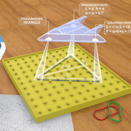 Augmented reality geoboard