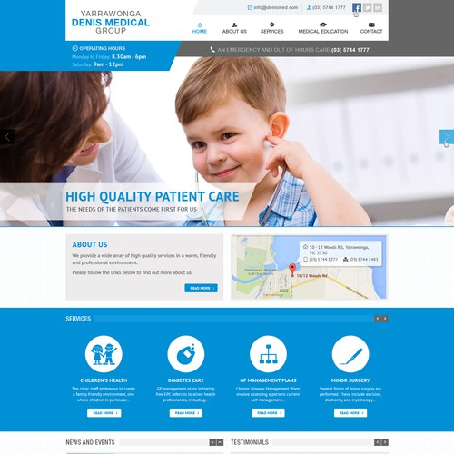 Design a website for a medical/doctors clinic to attract patients and doctors