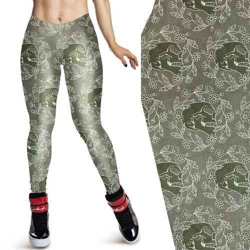 Create an awesome illustration for leggings print