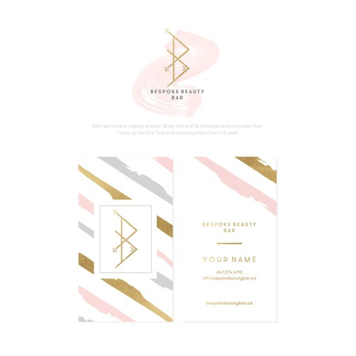 Logo & Business Card Concept for Bespoke Beauty Bar