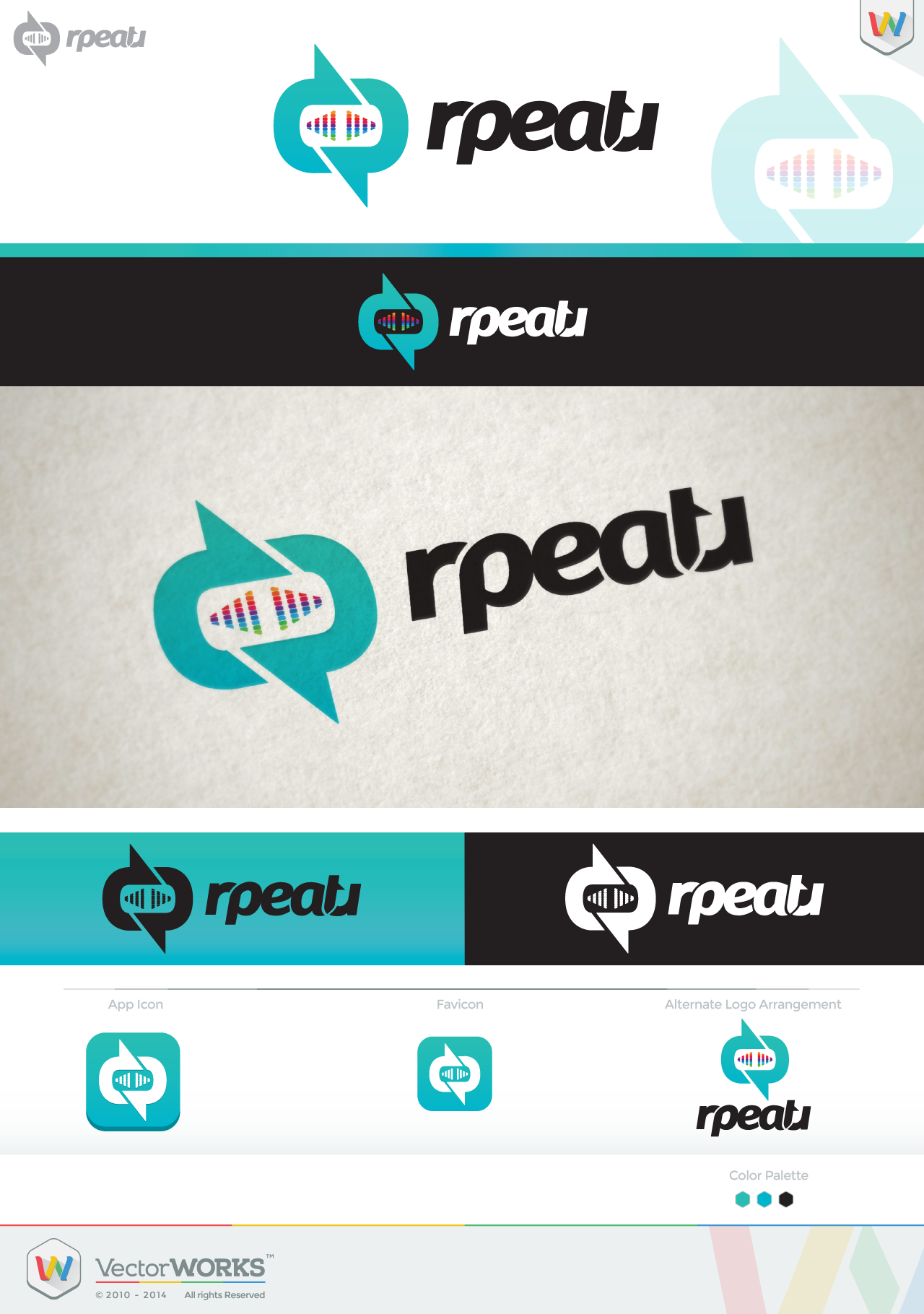 RpeatR - Create THE logo and THE icon for the next up-and-coming music social network!