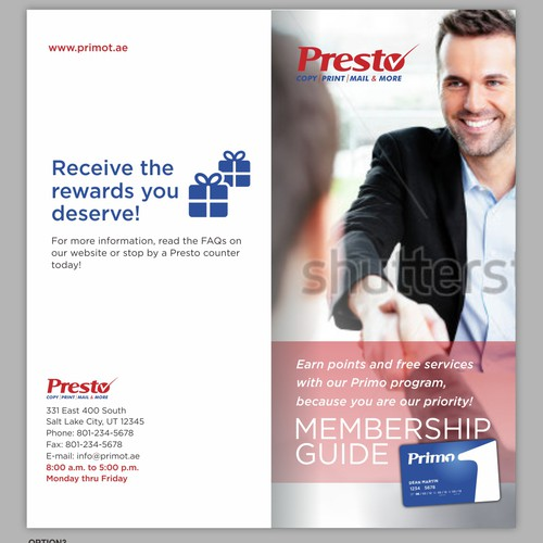 Brochure for Presto