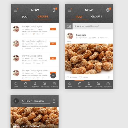 BuddyPress App Design