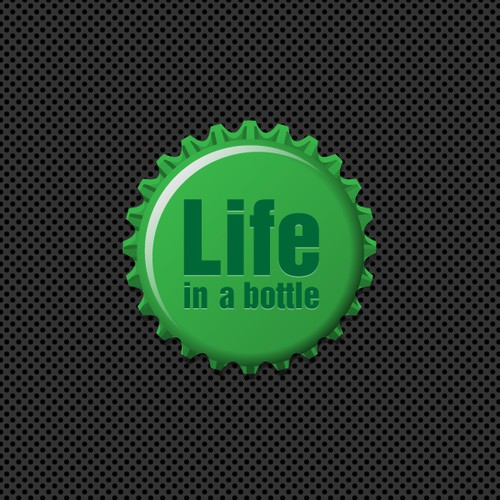 "Create the next logo for ""LIFE"" IN A BOTTLE."