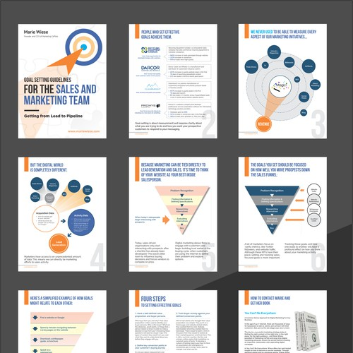 Design a powerful corporate PDF guide to help Marketing & Sales teams