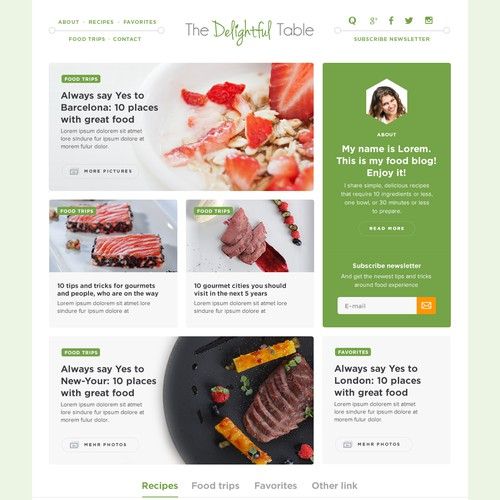 Design for Food blog