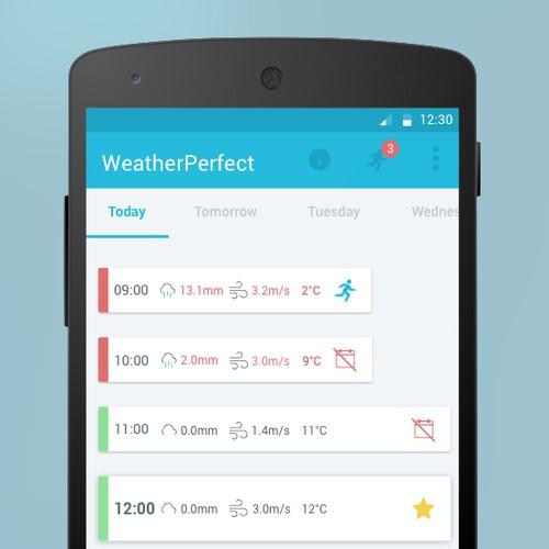 Design for unique Running App