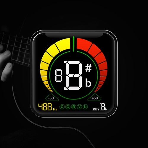 Design for the tuner LCD screen