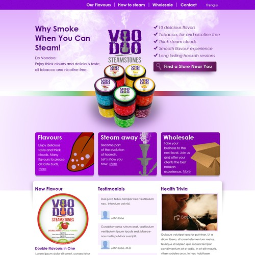 New website design wanted for Voodoo steamstones