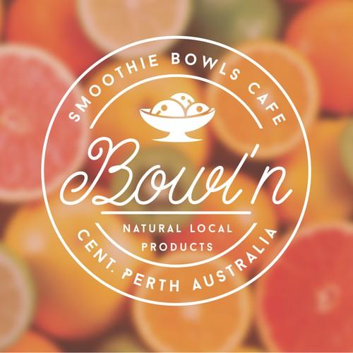 Logo concept SMOOTHIE BOWLS CAFE