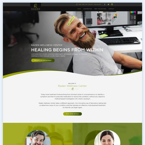 Website design for an Innovative Medical Practice.