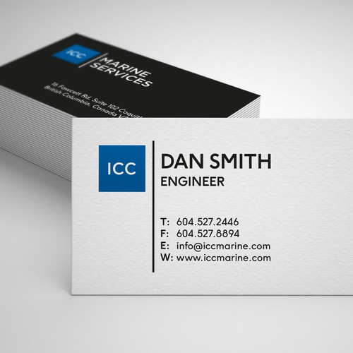 ICC Marin Services Business Card