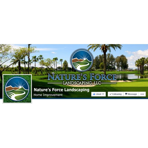 Facebook Cover for Commercial Landscaping Company