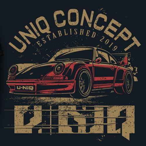 uniq car T shirt Design