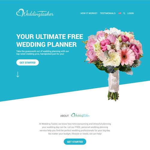 Wedding Tasker landing page