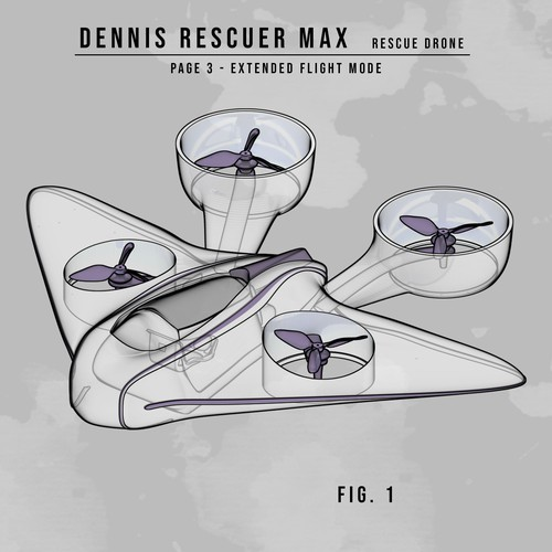 Rexcue drone drawing