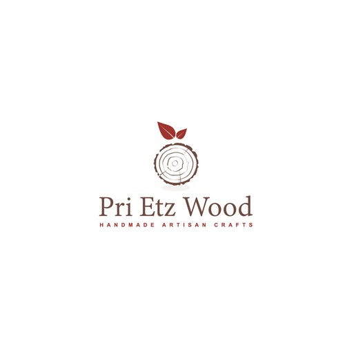 Concept logo for handmade artisan wood crafts