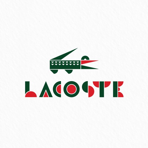 Lacoste logo in Bauhaus style