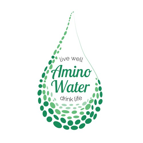 Logo for an amino-enhanced water drink