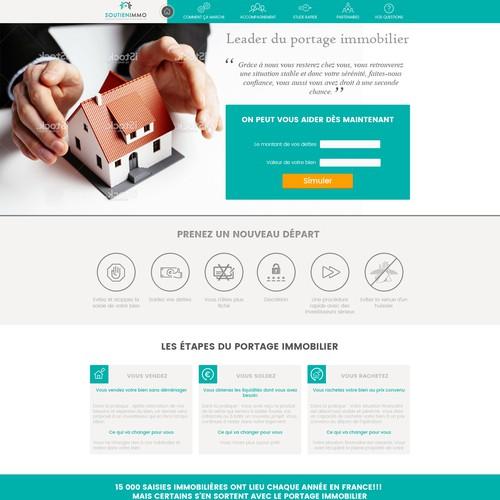 webdesign d'une page pour soutienimmo