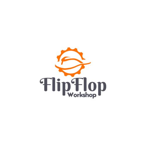 FlipFlop Workshop Logo Design