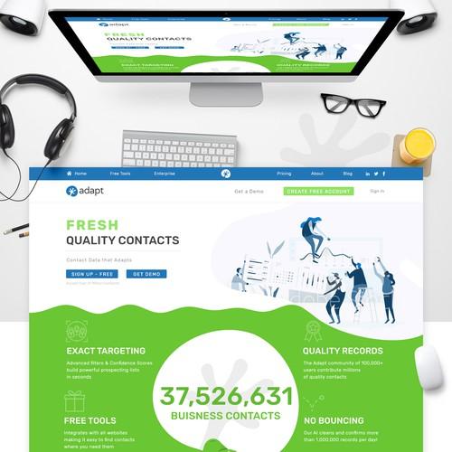 Landing page internet