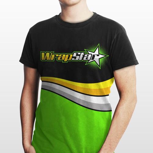 T-Shirt design for wrapstar